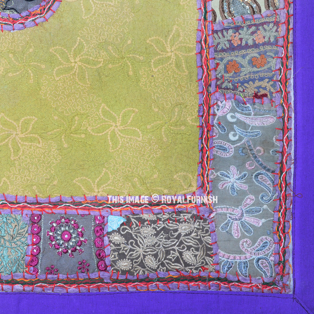 40 Quot Purple Unique Elephant Patchwork Embroidered Boho Wall