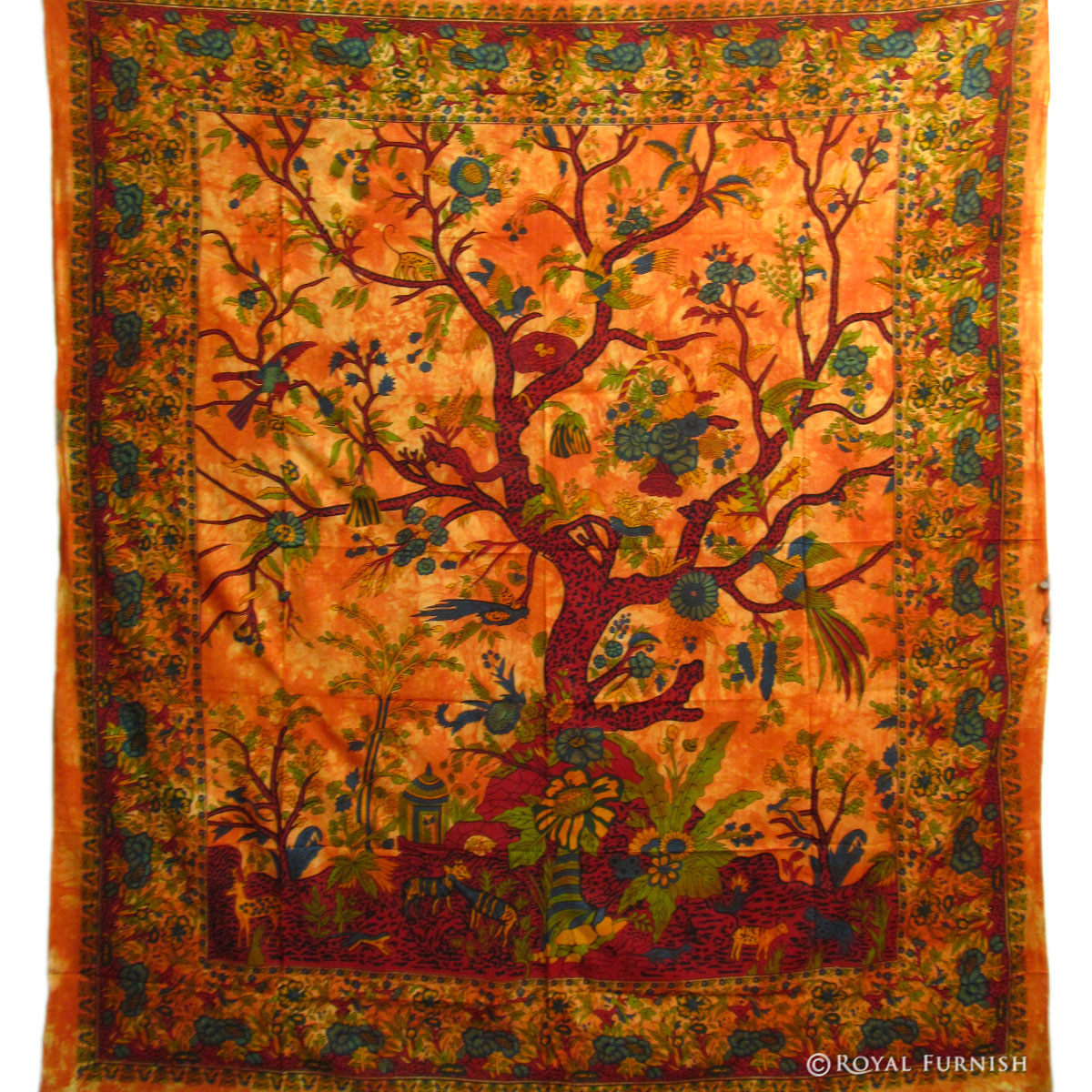 Queen Red Multi Purpose Tree Of Life Hippie Wall Hanging