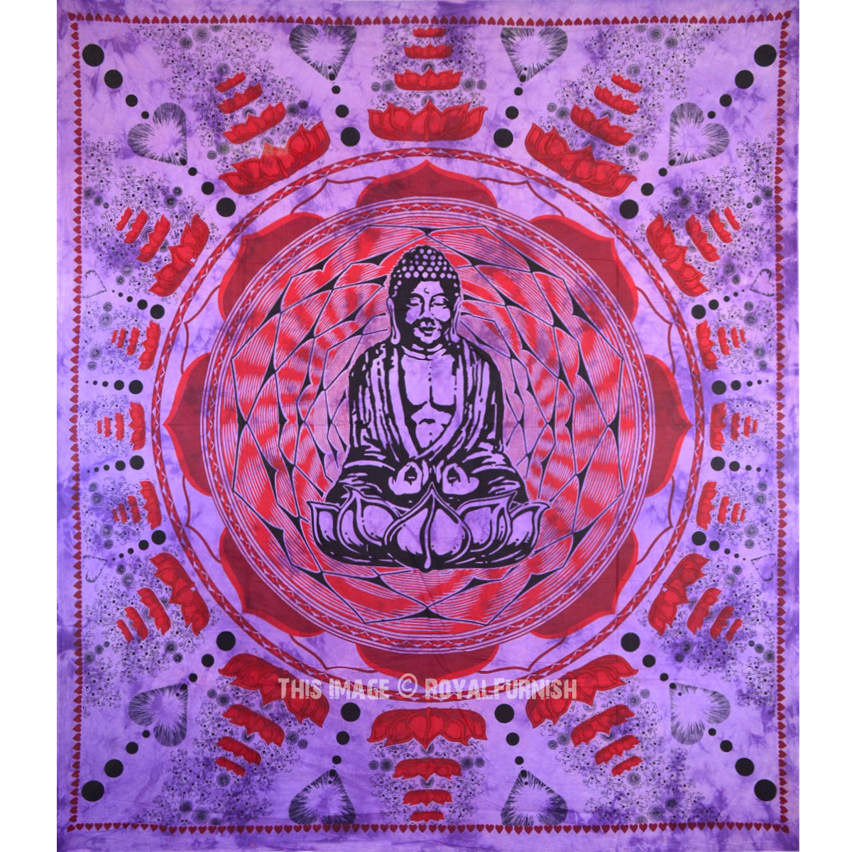 Decorative Wall Hanging Tapestry : Purple buddha wall decorative indian cotton tapestry