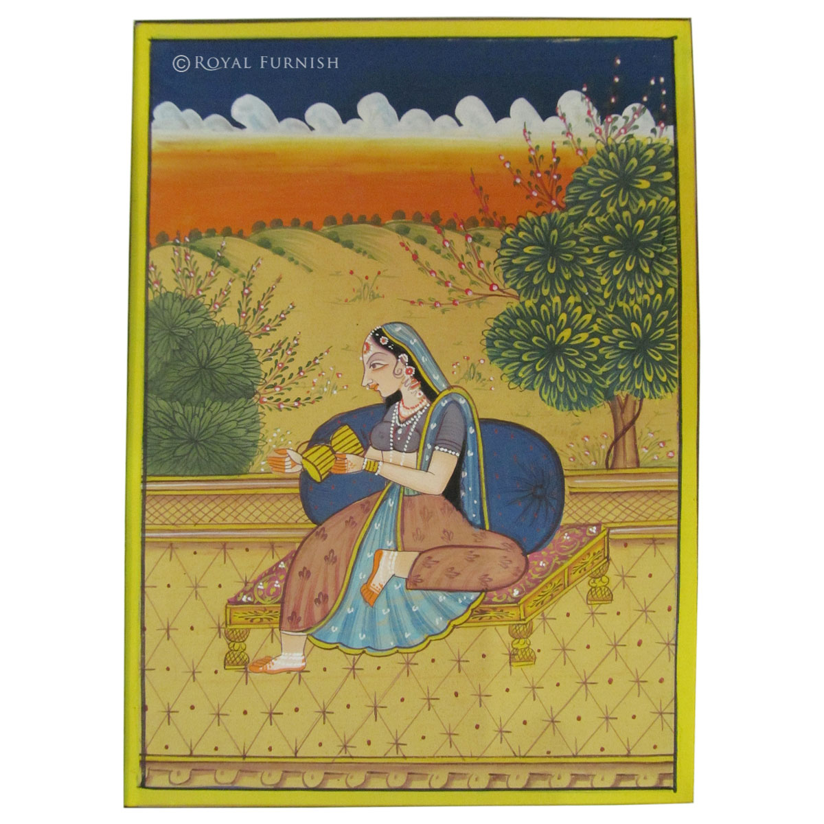 Rajasthan Traditional Miniature Radha Ragini Painting