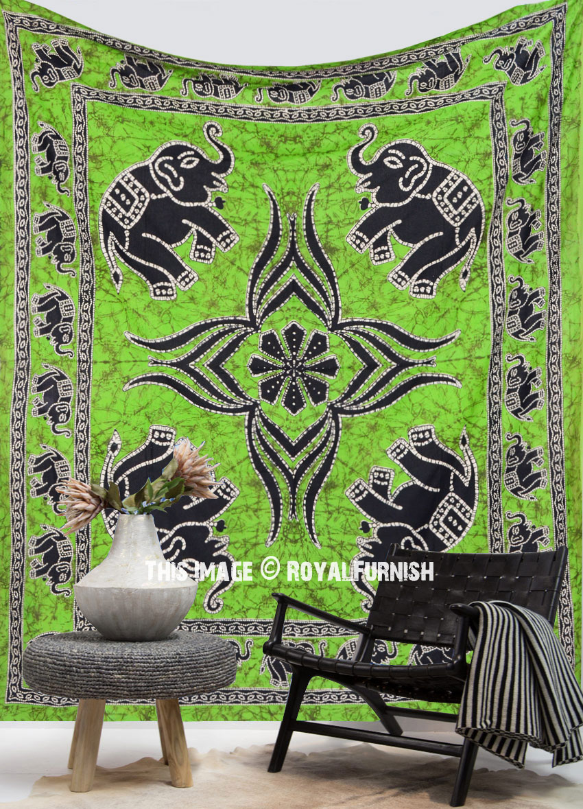 On Sale Indian Elephant Dorm Decor Hippie Tapestry Wall