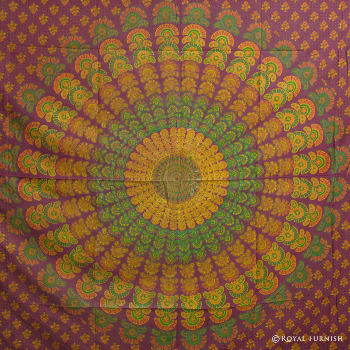 Red Mandala Hippie Bohemian Tapestry Bed Cover - RoyalFurnish.com