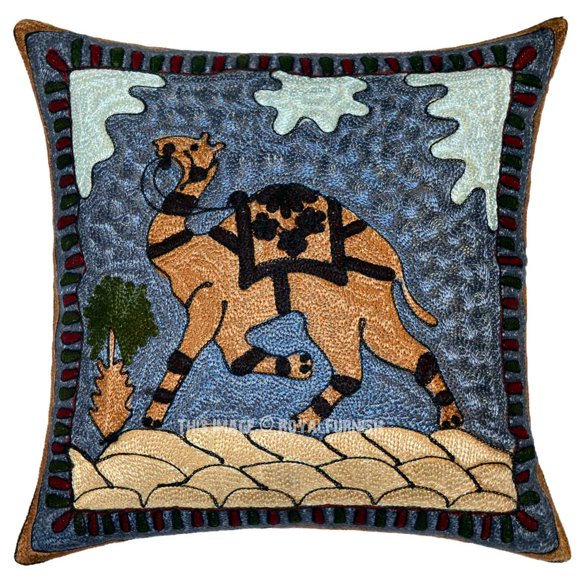 Embroidered Decorative Pillow : 16