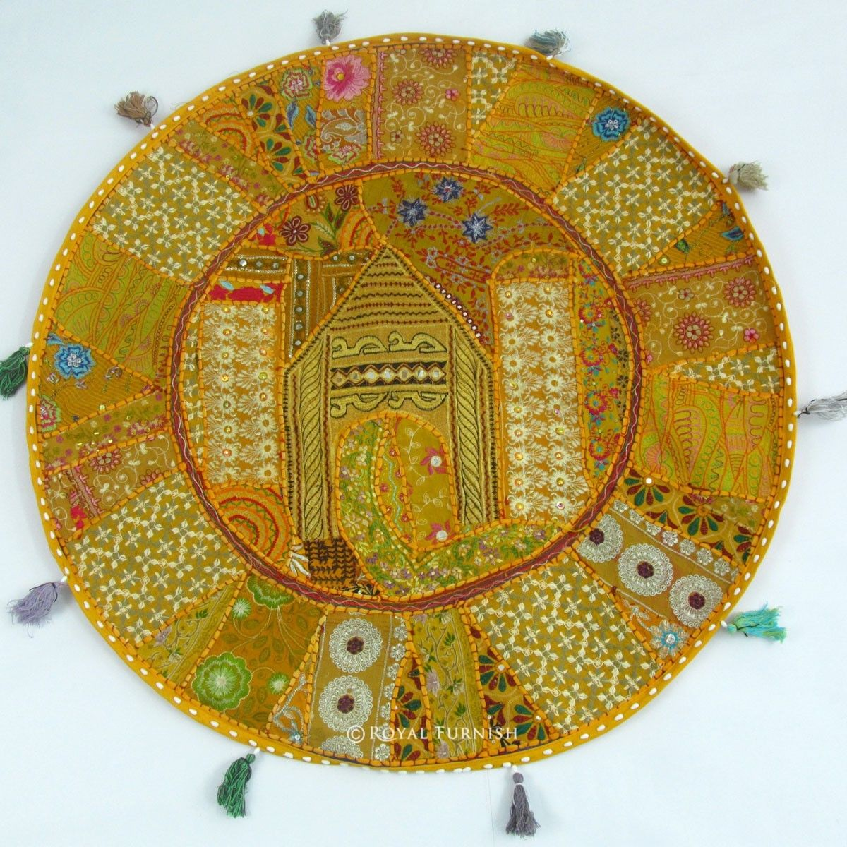 Big Large Indian Handmade Patchwork Floor Seating Pillow Cushion Case