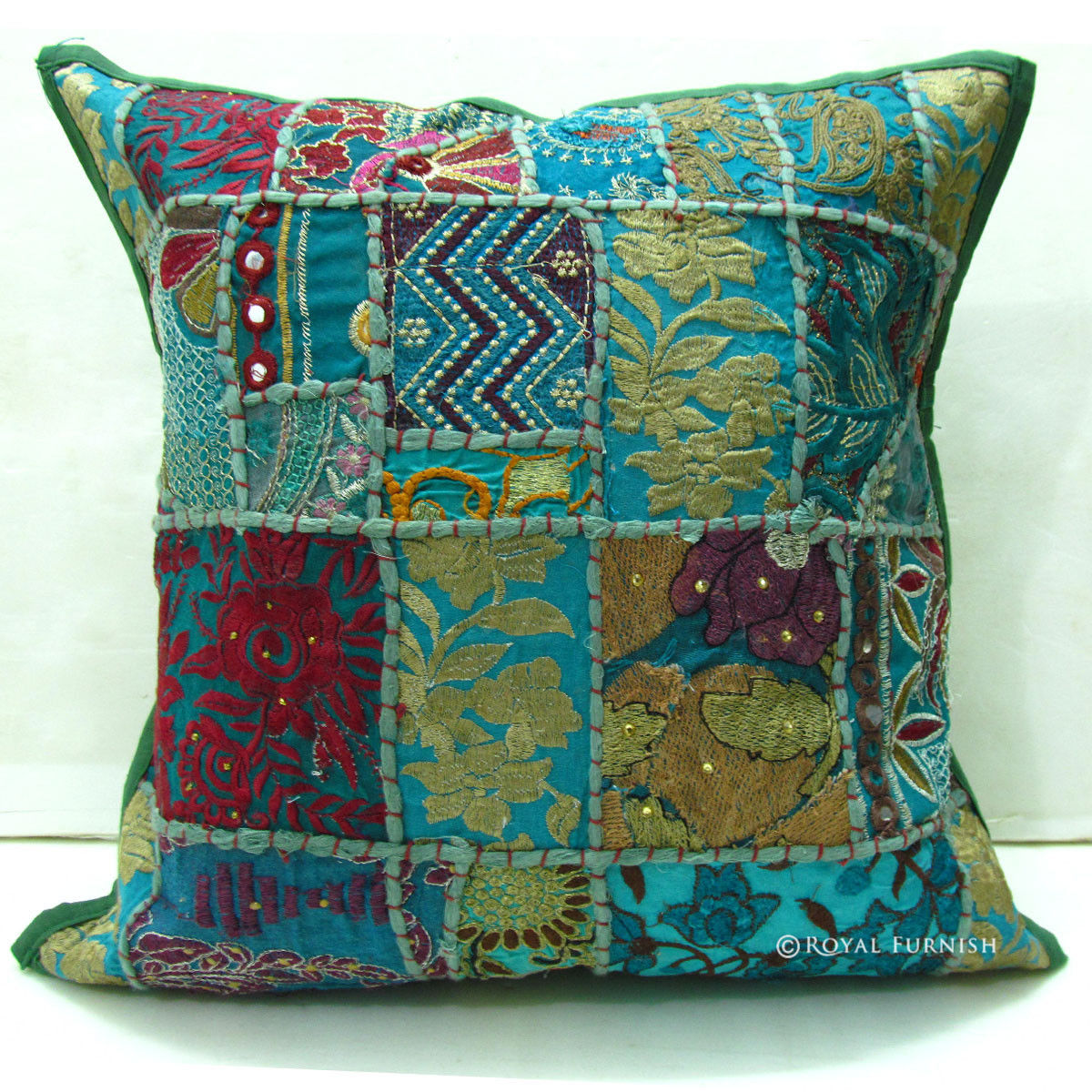 Tribal bohemian patchwork decorative throw pillow for Decor pillows
