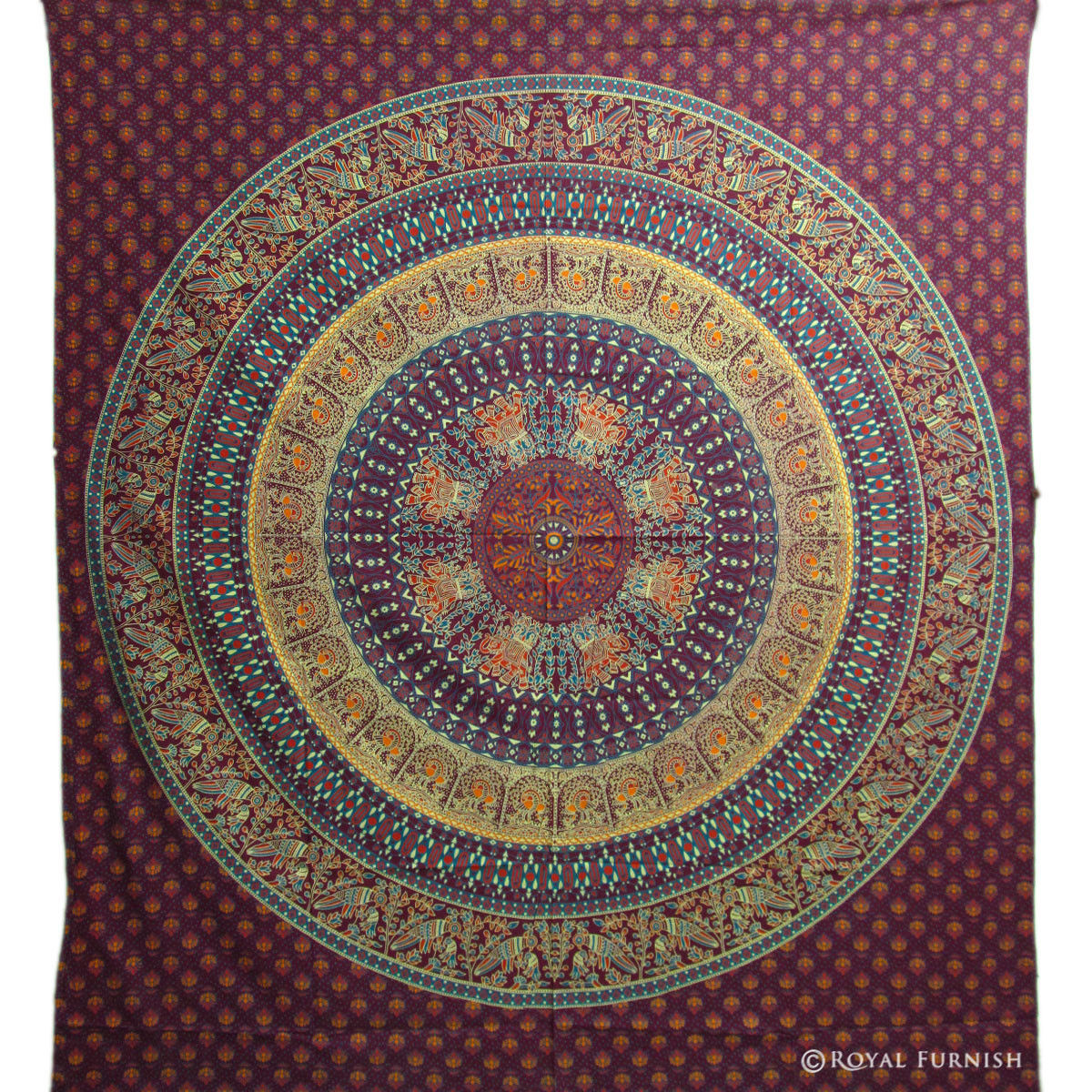 Indian Hippie Mandala Tapestry Wall Hanging Bed