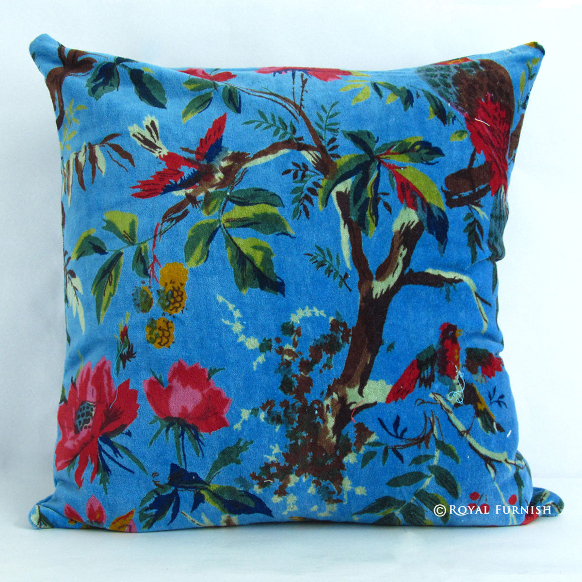 16quot Blue Indian Cushion Pillow Covers Case Velvet Bird  : 766546 from www.royalfurnish.com size 1200 x 1200 jpeg 311kB