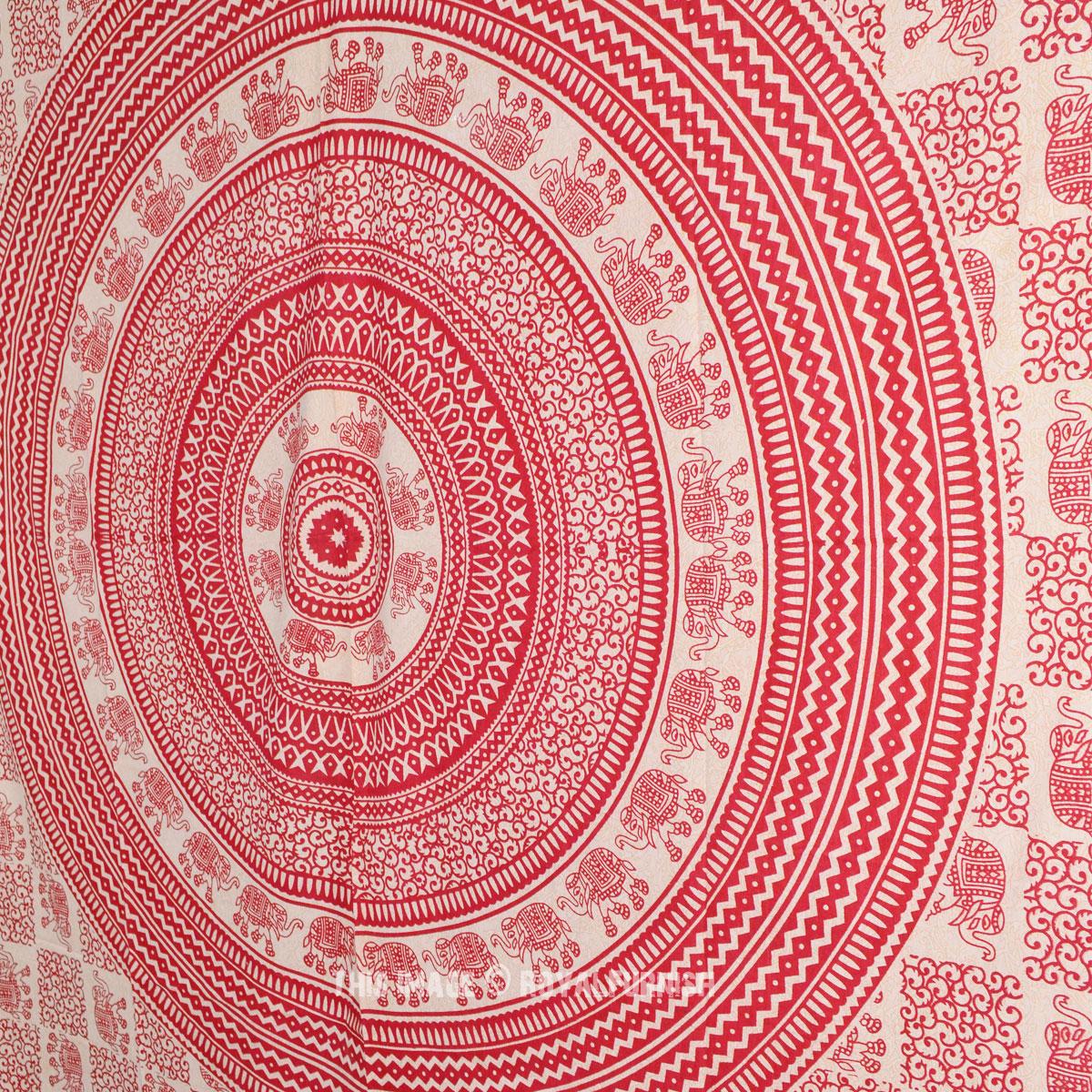 Red Elephant Hippie Mandala Tapestry Wall Hanging Dorm Decor Bedcover Home Decor Ebay
