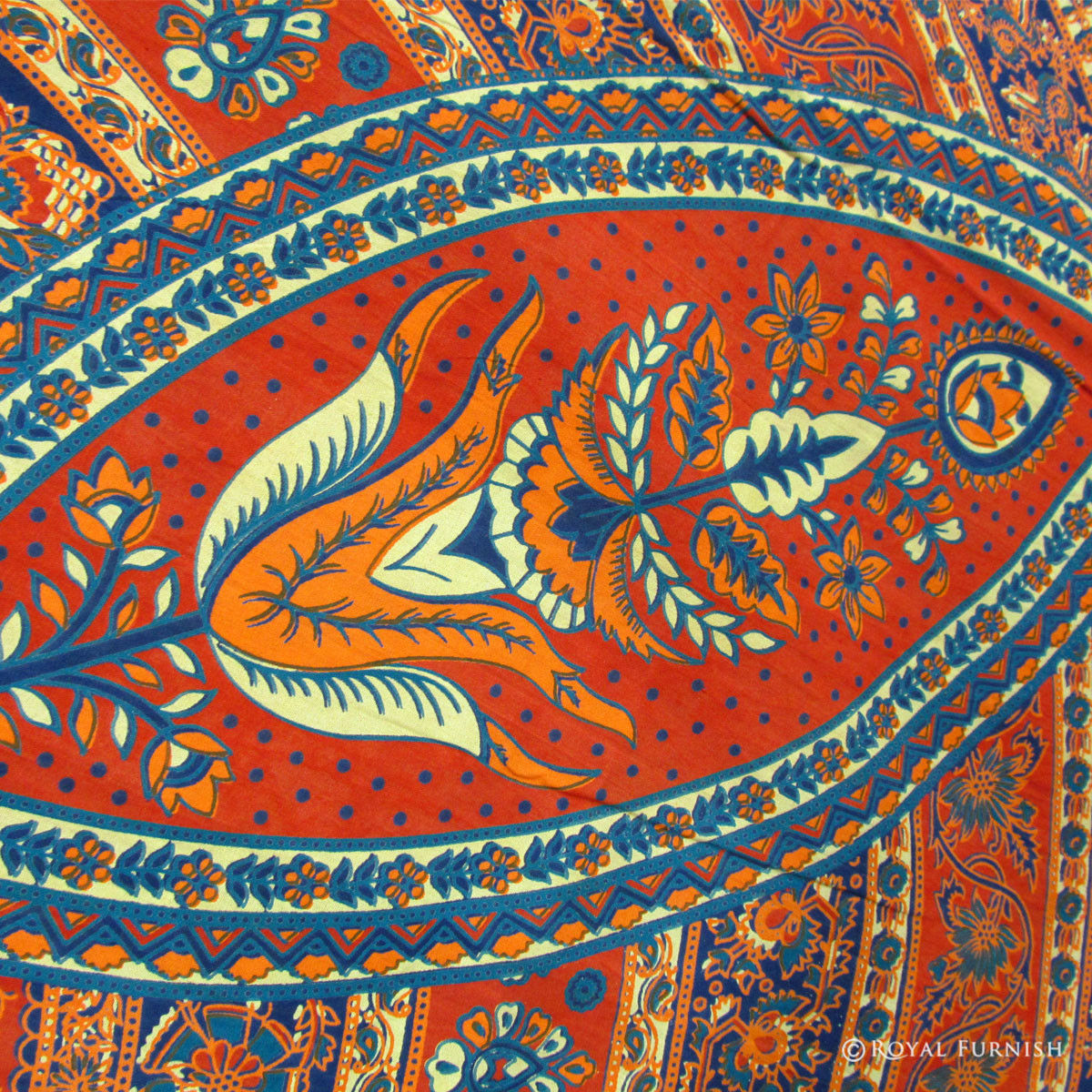 Beautiful Blue Indian Tapestry Wall Hanging Ethnic