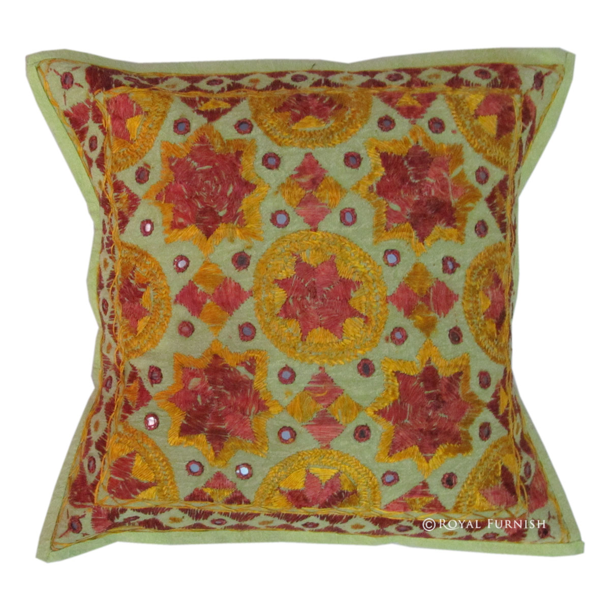 Vintage Handmade Embroidery Star Mirror Decorative Throw Toss Pillow eBay