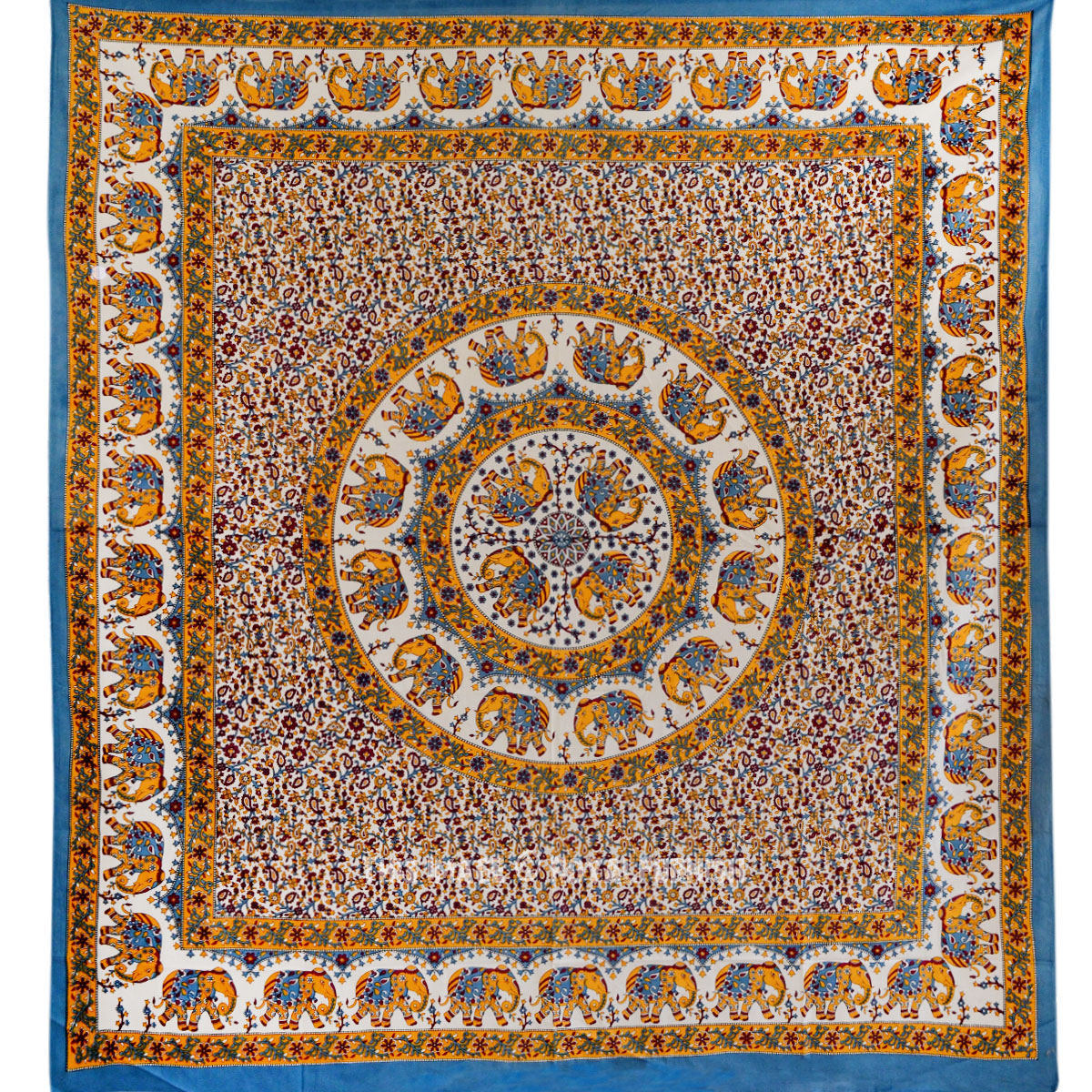 Multicolor Indian Elephant Mandala Hippie Tapestry Wall