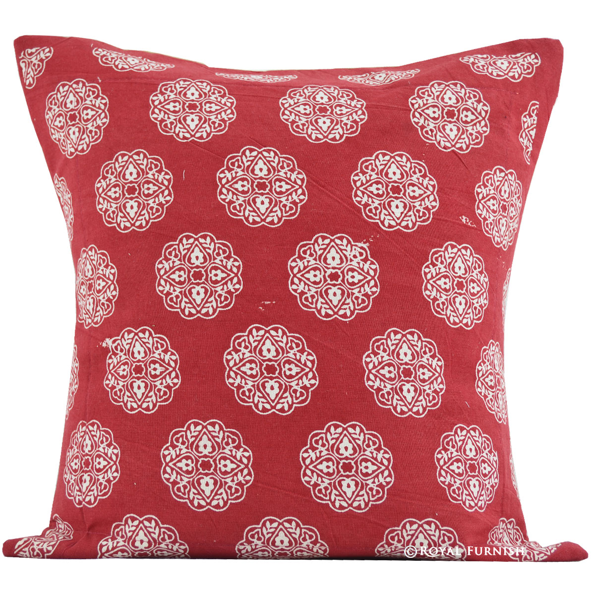 Round Red Decorative Pillows : 16