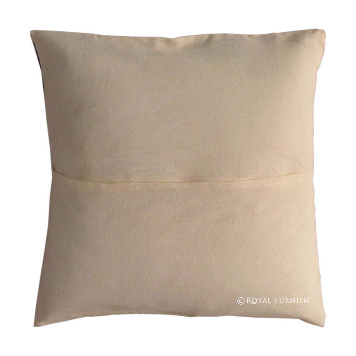 16 Quot Black Indian Hand Block Print Throw Pillow Cover