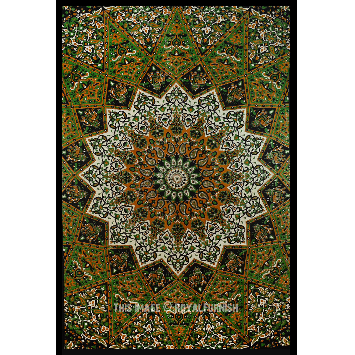 Wall Hanging Art Deco Tapestry : Black twin indian star print hippie dorm decor tapestry