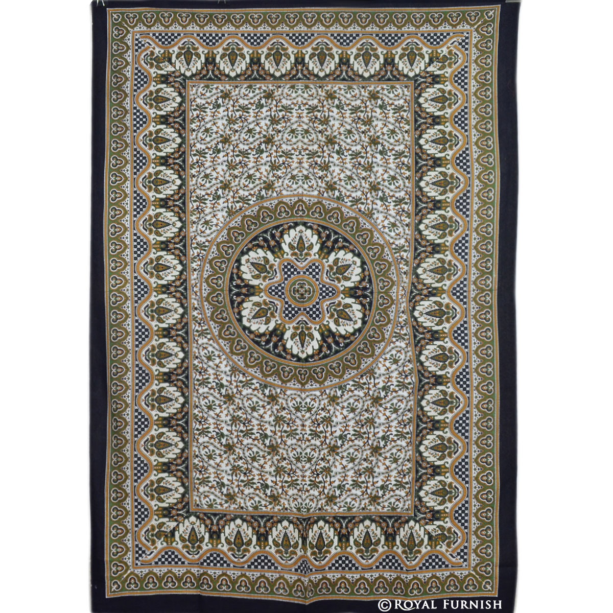 Decorative Wall Hanging Tapestry : Twin size indian handloom mandala tapestry wall hanging
