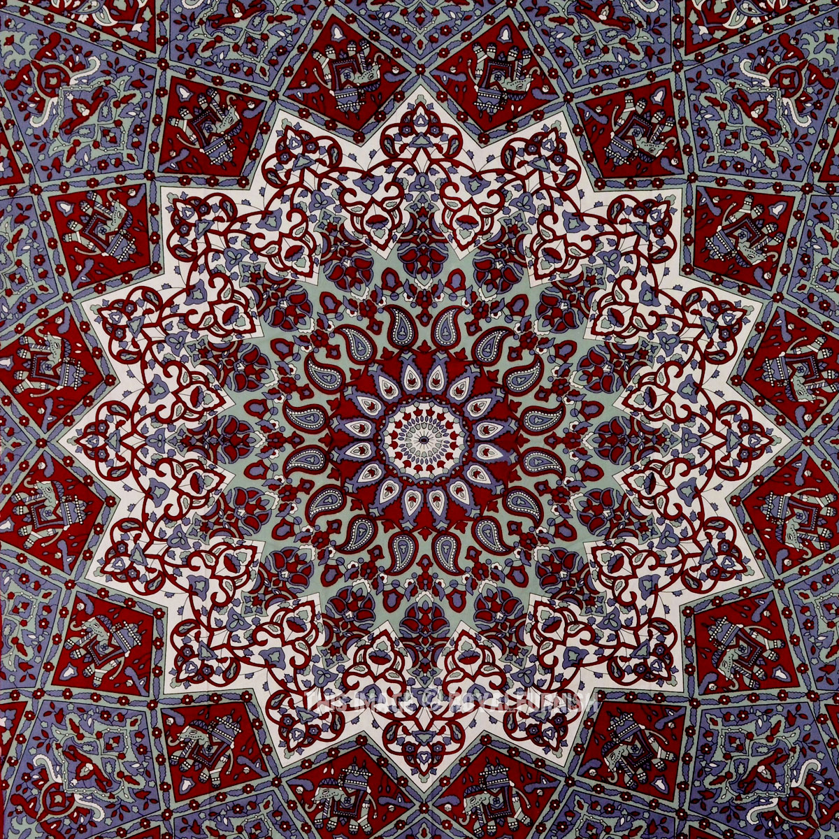 Maroon small indian dorm decor star hippie tapestry wall for Star home decorations