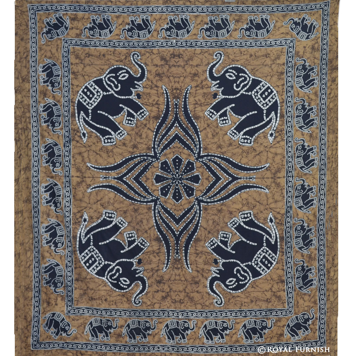 Indian elephant handloom hippie tapestry wall hanging for for Wall hangings