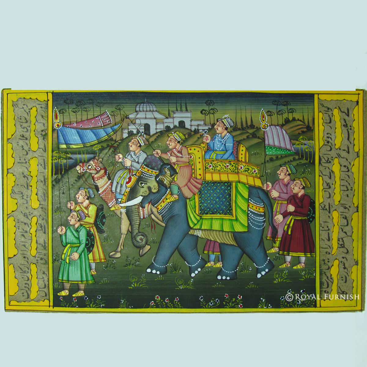 5 x7 rajasthani mughal procession miniature painting indian wall decor art Home decor paintings for sale india