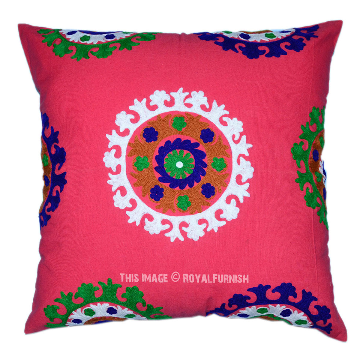 Embroidered Throw Pillow Covers : 24