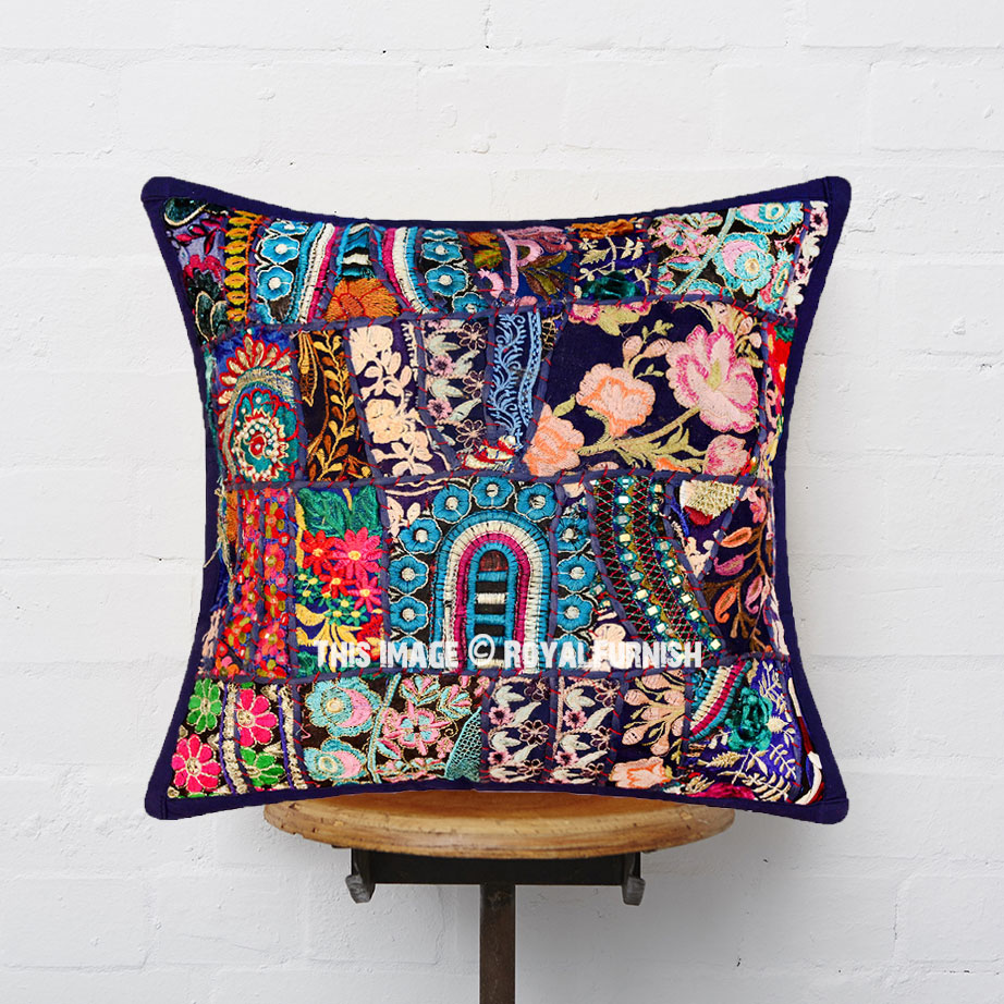 How To Make A Patchwork Throw Pillow : 16