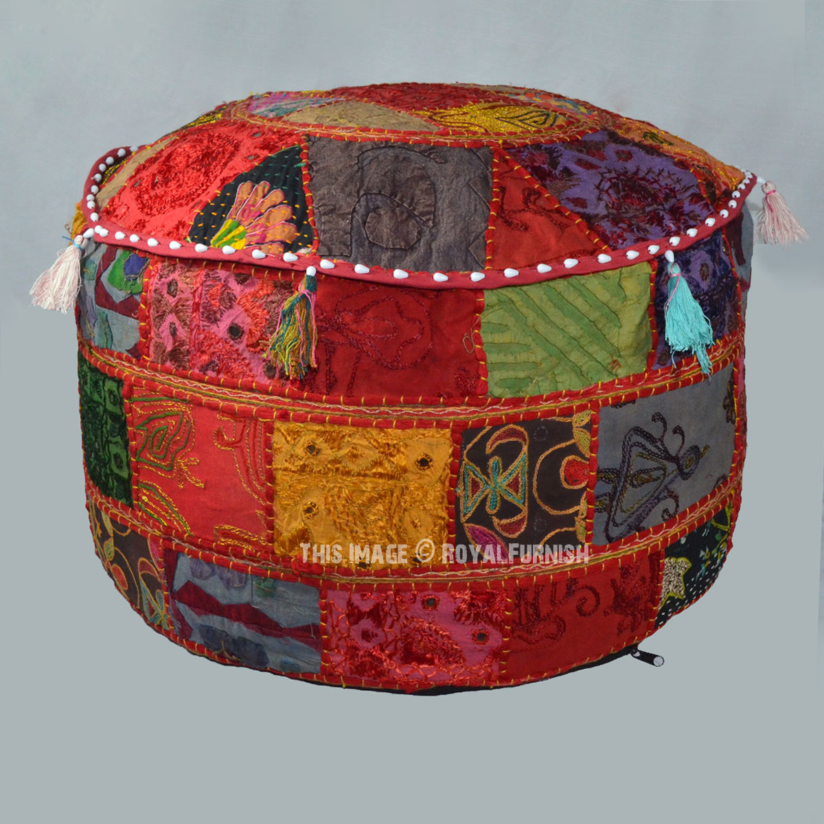 Handmade Multi Patchwork Embroidered Appliqued Indian
