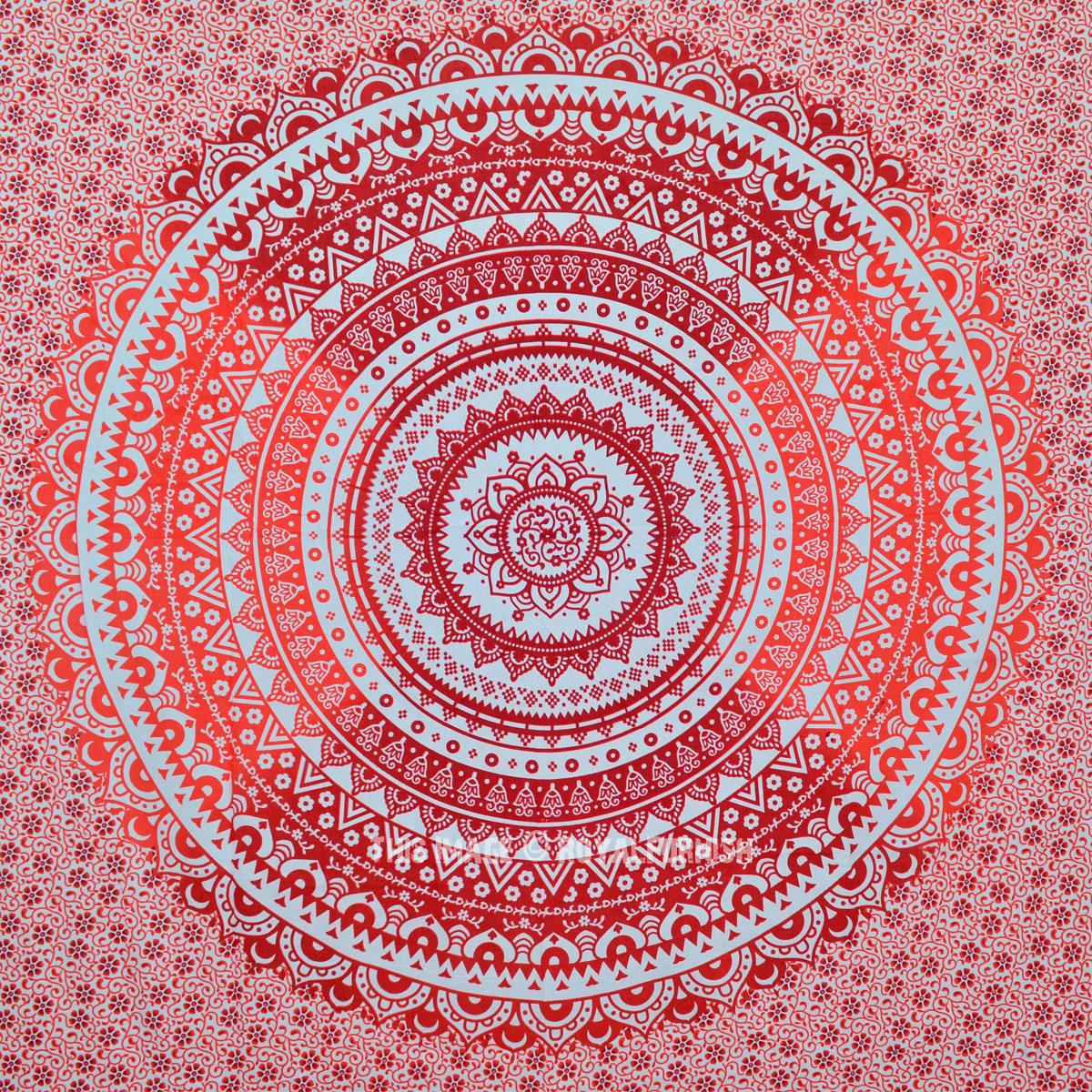 Orange Multi Ombre Mandala Wall Tapestry Bedding