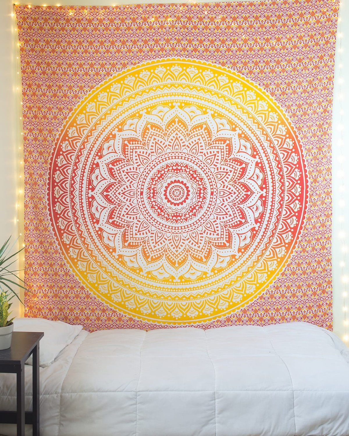 Queen Size Multi Colored Ombre Mandala Tapestry Wall Hanging ...