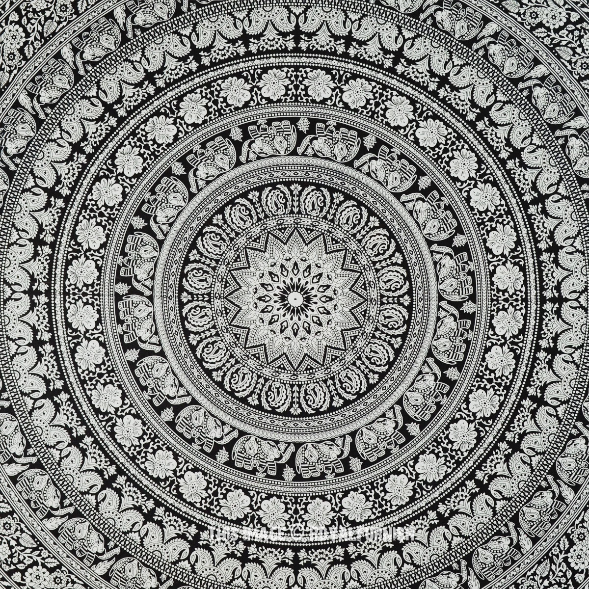Black Amp White Mandala Tapestry Royalfurnish Com