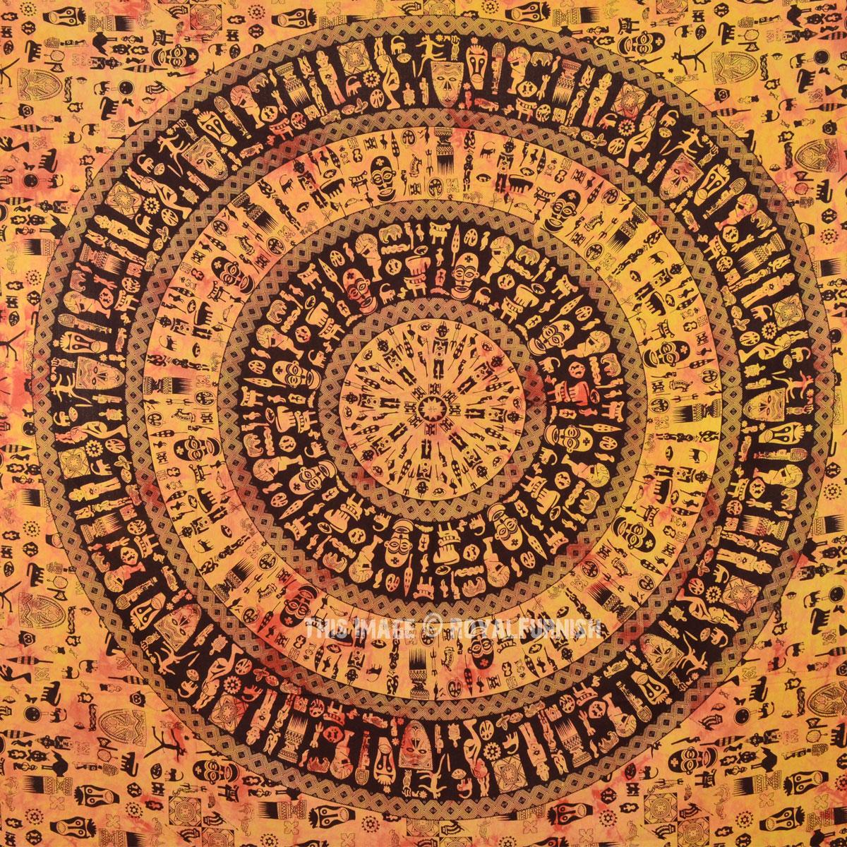 Yellow Amp Black Tribal African Boho Chic Style Mandala