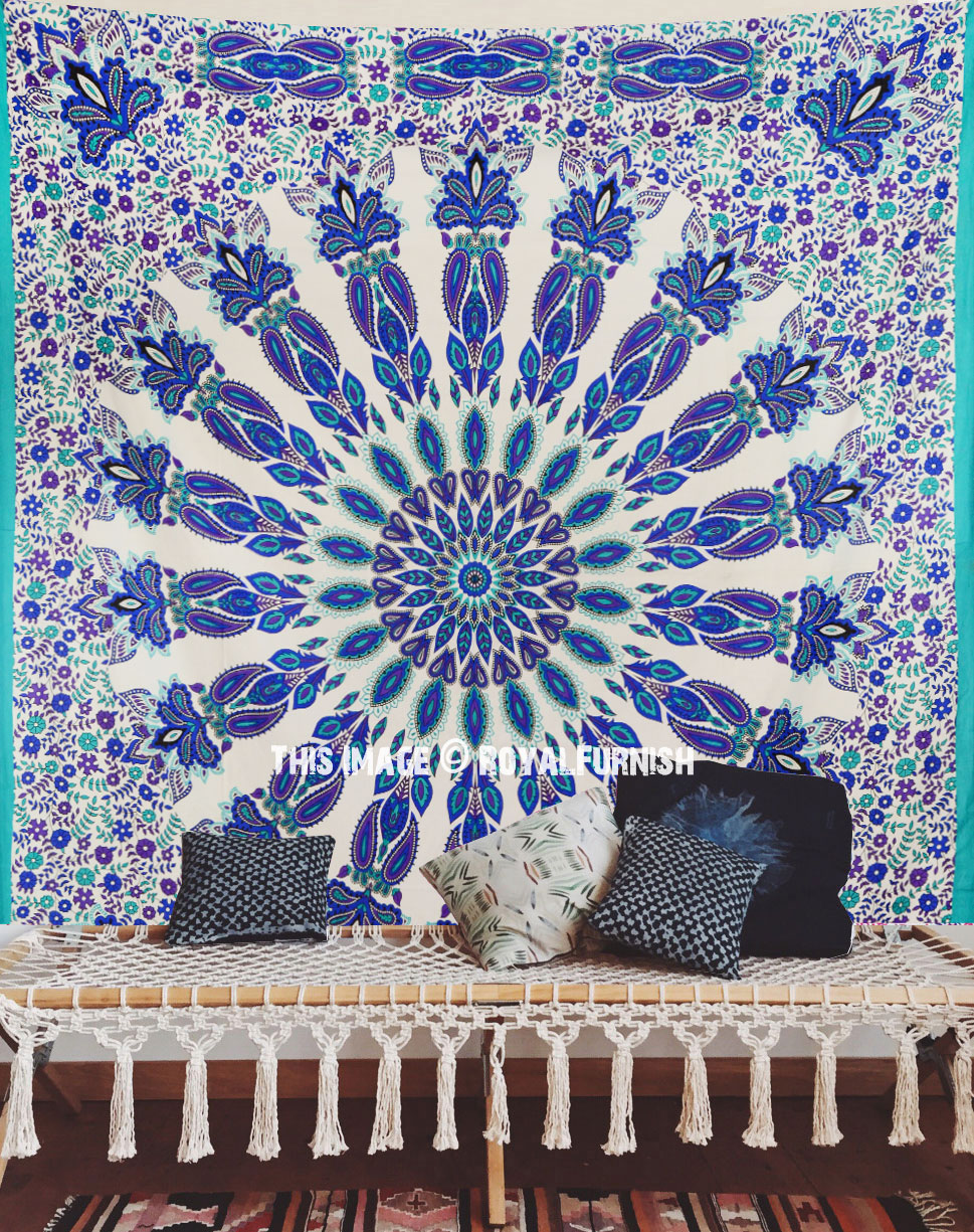 hanging tapestry charming space make deja pin vu royalfurnish on shop to floral asian purple mandala com medallion elephant your more cotton wall multi
