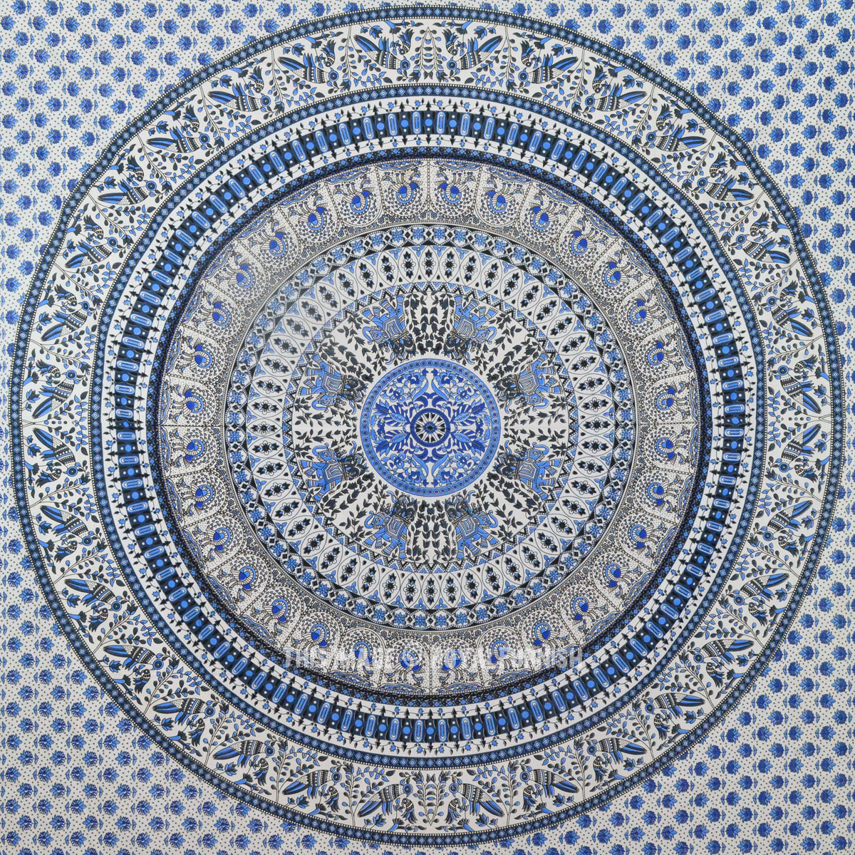light blue lace mandala - photo #45