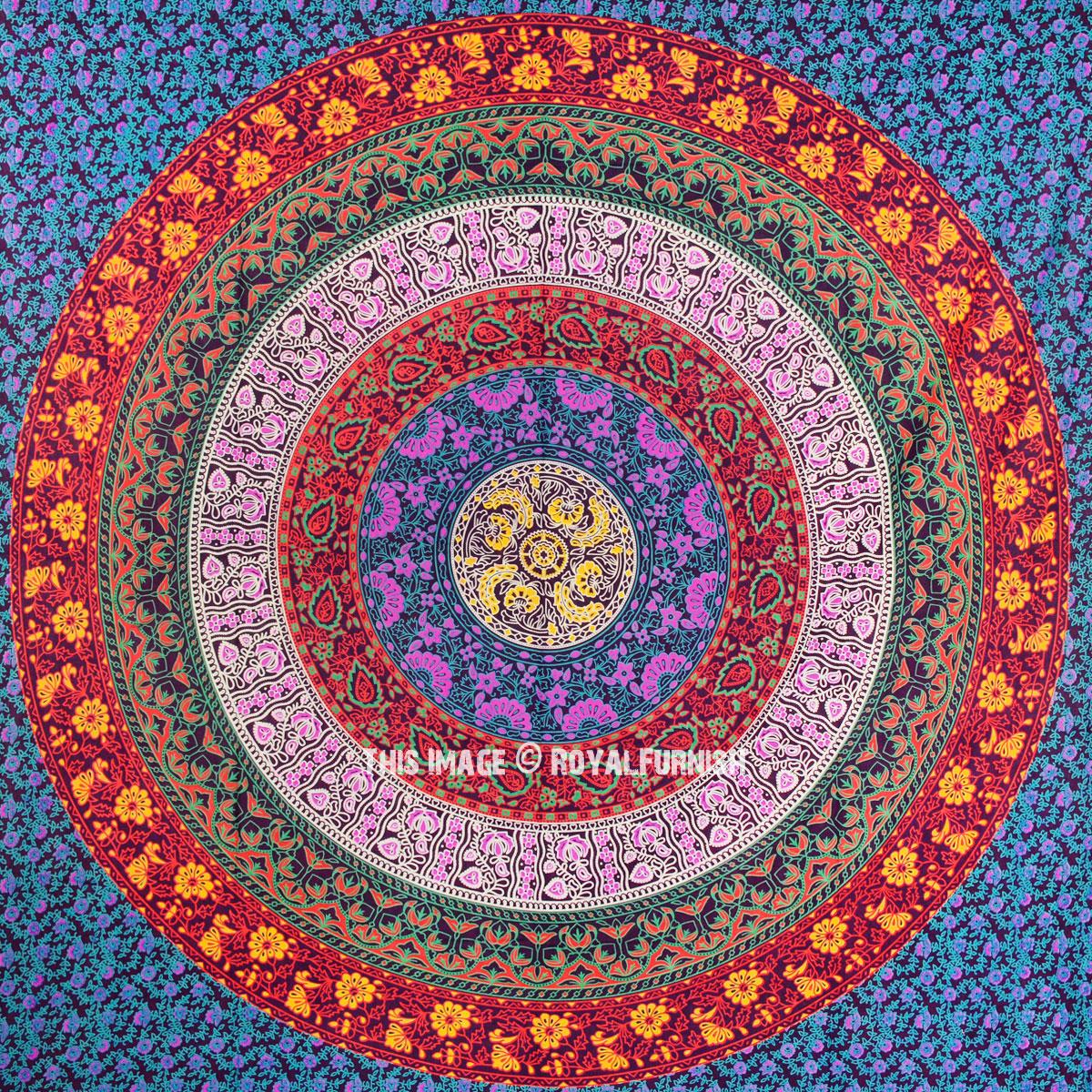 Purple Plum Amp Bow Medallion Mandala Hippie Tapestry