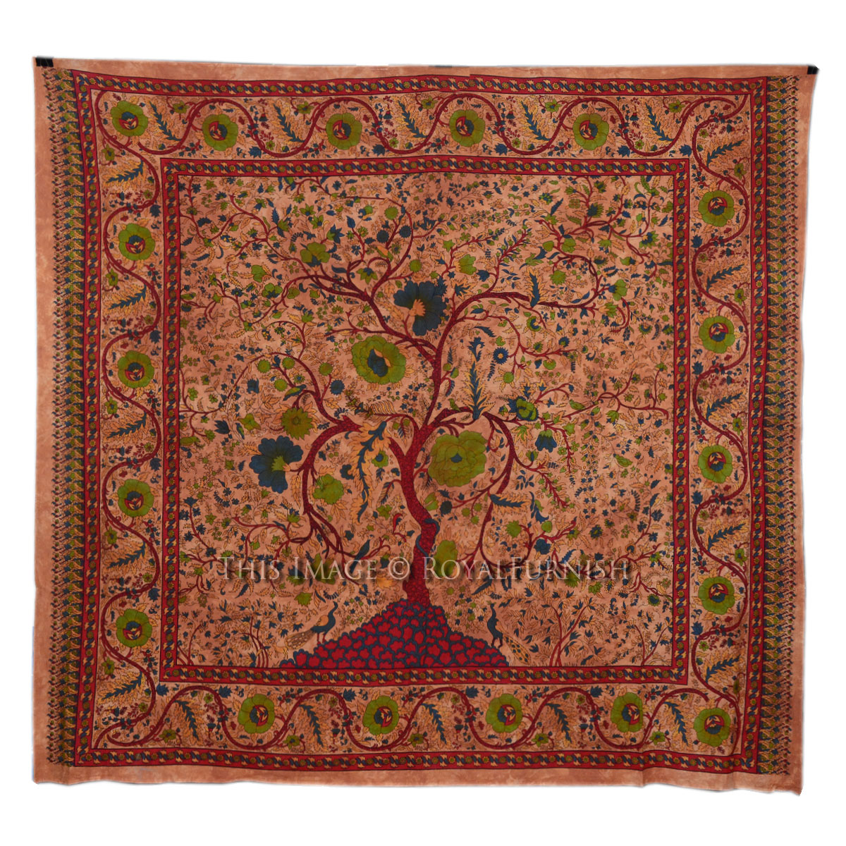 Brown Large Young Tree Of Life Hippie Bohemian Tapestry ...