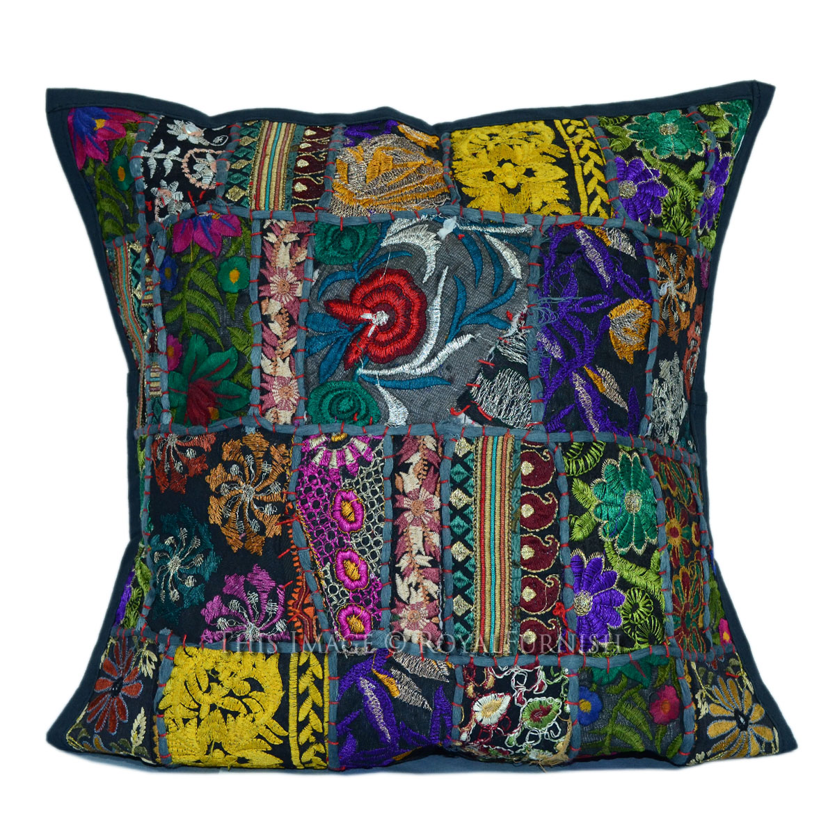Black Tribal Throw Pillow : Black Tribal Patchwork Decorative & Accent Cotton Pillow ...
