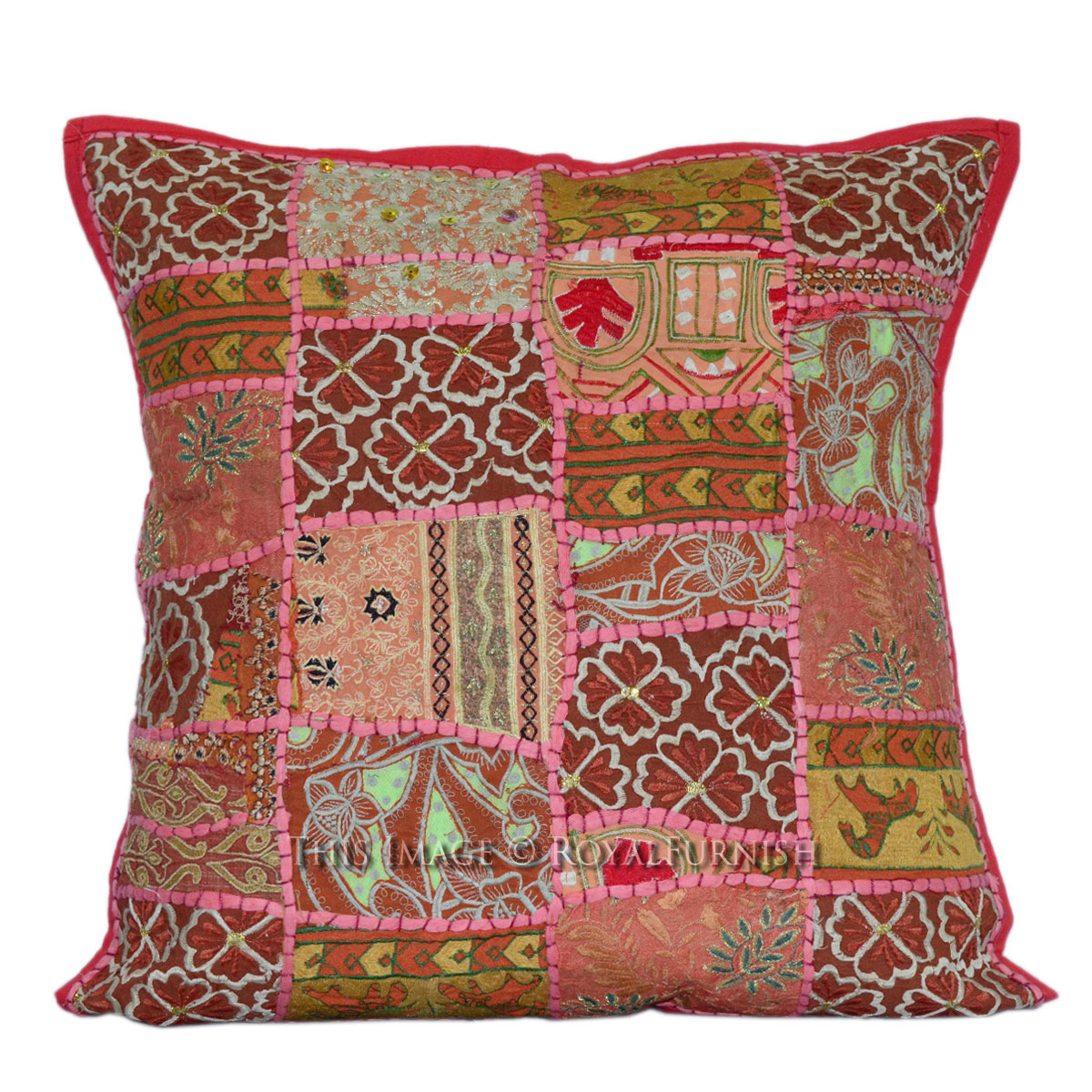 50x50 cm red vintage patchwork sofa couch square pillow. Black Bedroom Furniture Sets. Home Design Ideas