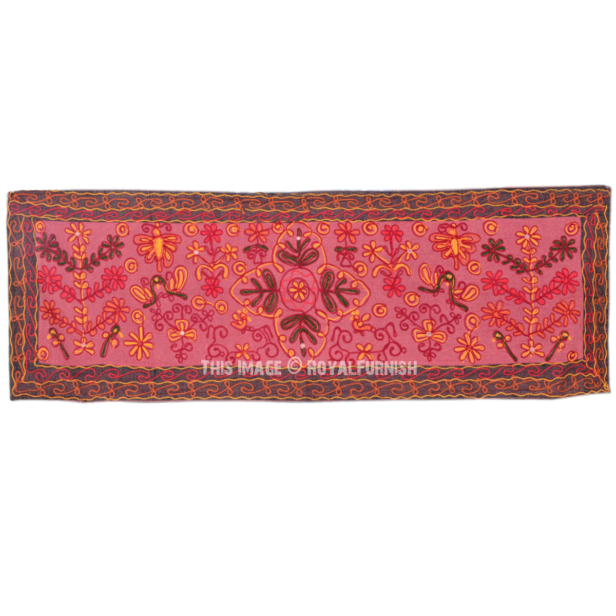 Indian Ari Woolen Woven Embroidered Fabric Tapestry Wall