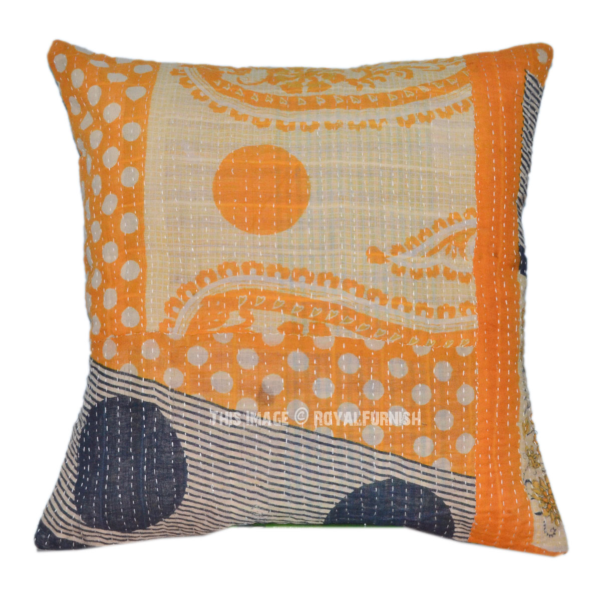 Decorative Amp Accent Indian Kantha Throw Pillow Cover