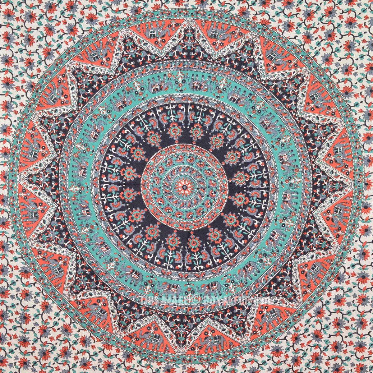 Blue multi elephants sun ombre mandala wall tapestry royalfurnish - Multi Paisley Bohemian Mandala Circle Wall Tapestry Bedding Royalfurnish Com