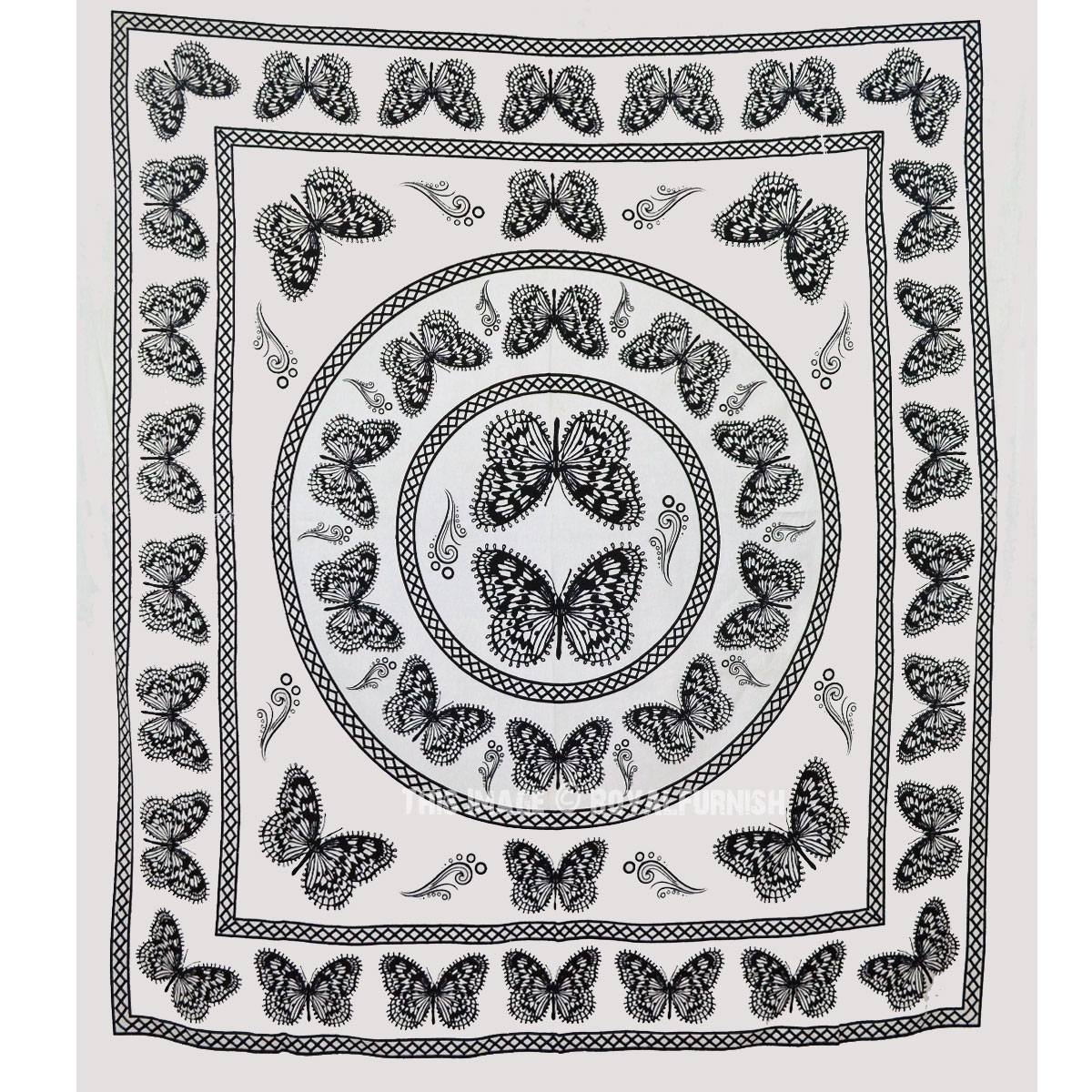 White And Black Butterfly Wall Tapestry Bedroom Dorm