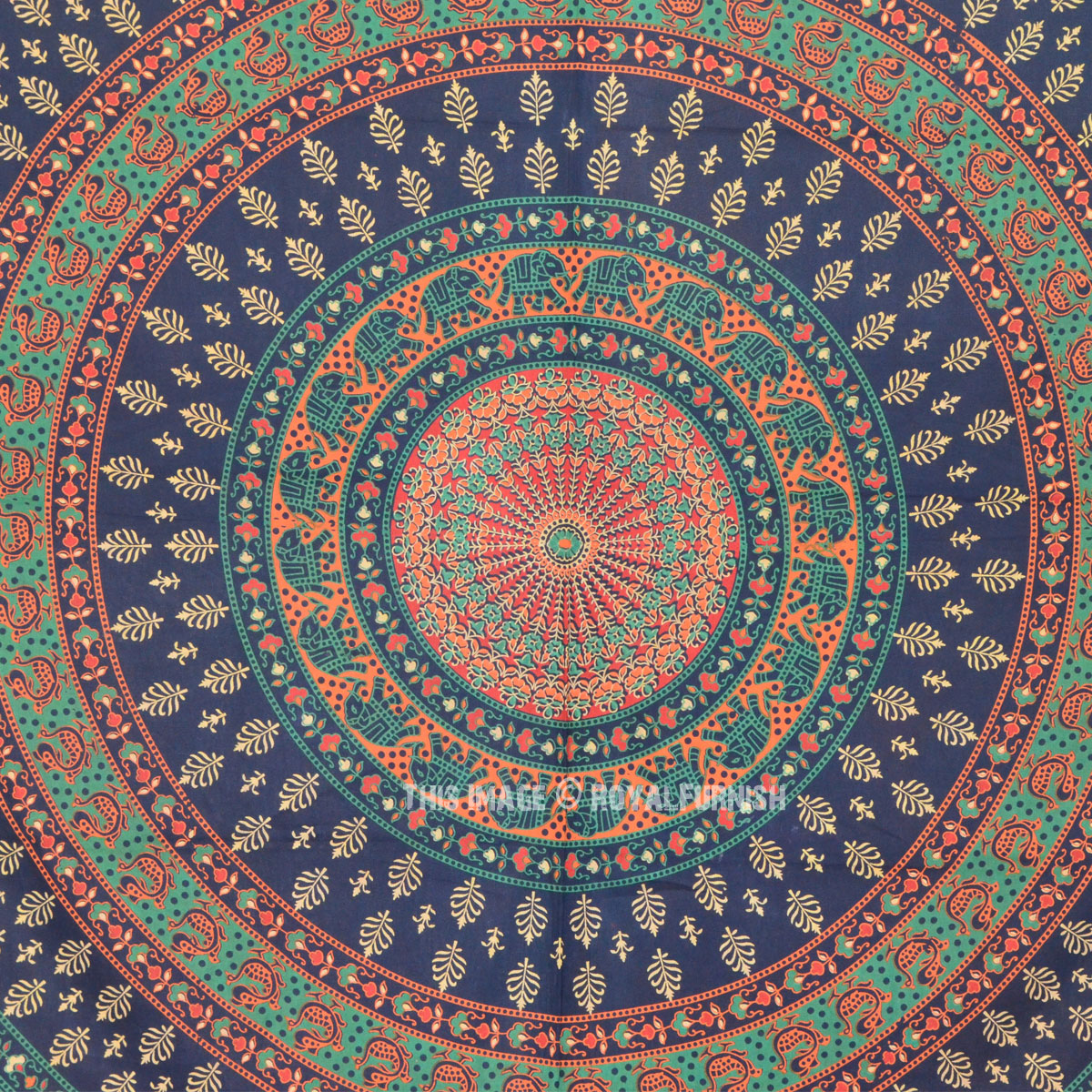 Queen Size Elephant Floral Bohemian Mandala Wall Tapestry ...