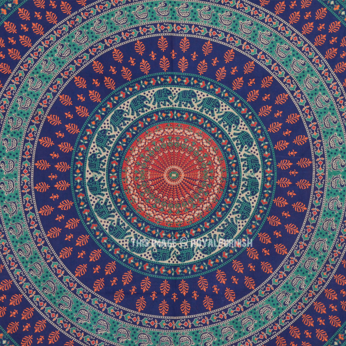 Blue Multi Bohemian Mandala Throw Wall Tapestry, Hippie ...