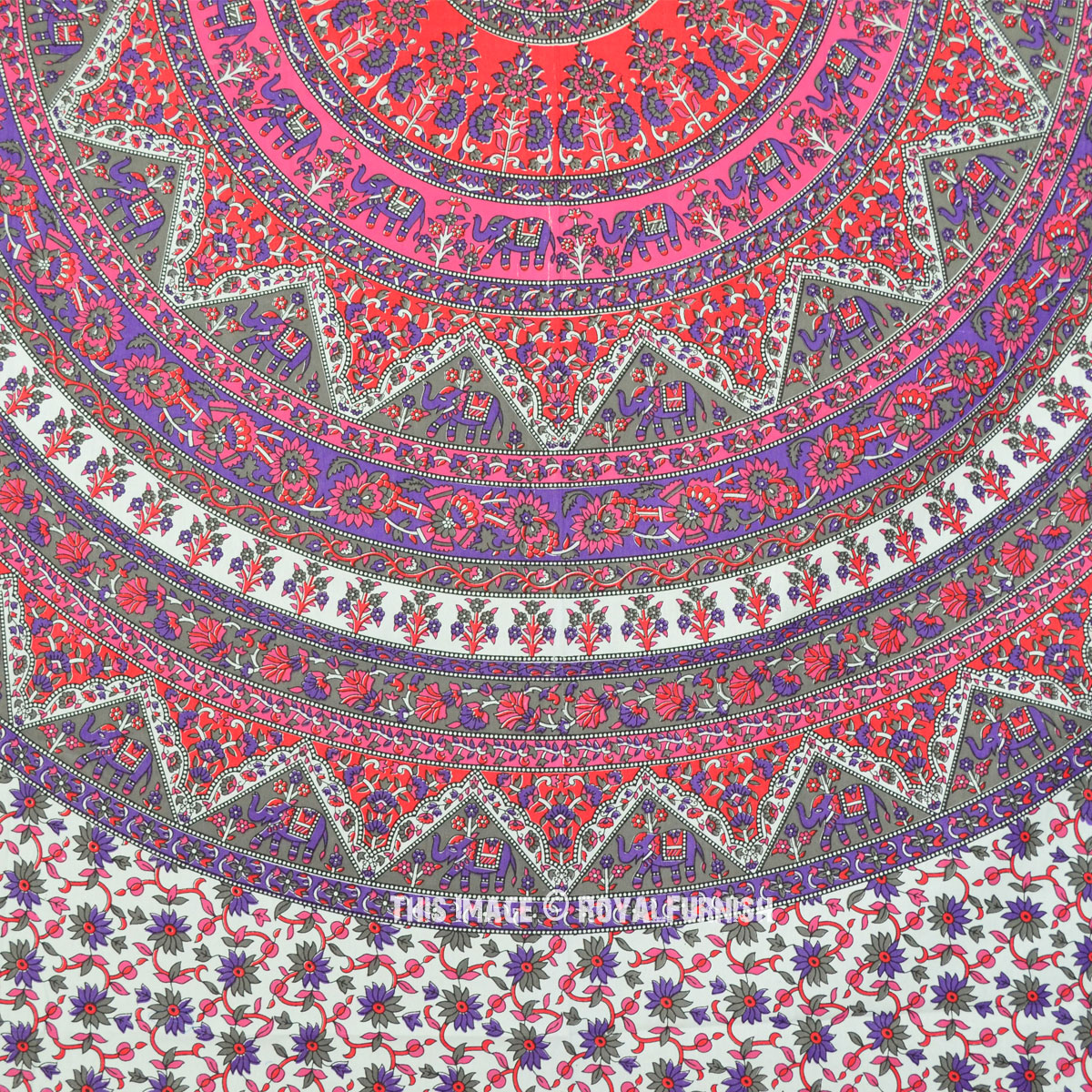 Mandala Tapestry With Lights