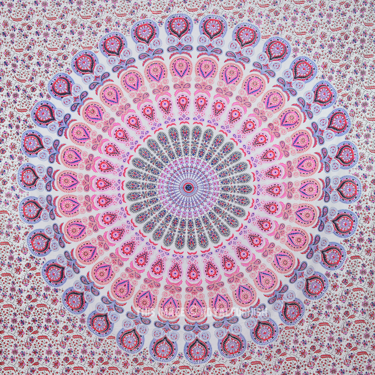 Tapestry 13 99 Large Red Multi Glittering Mandala Tapestry Hippie