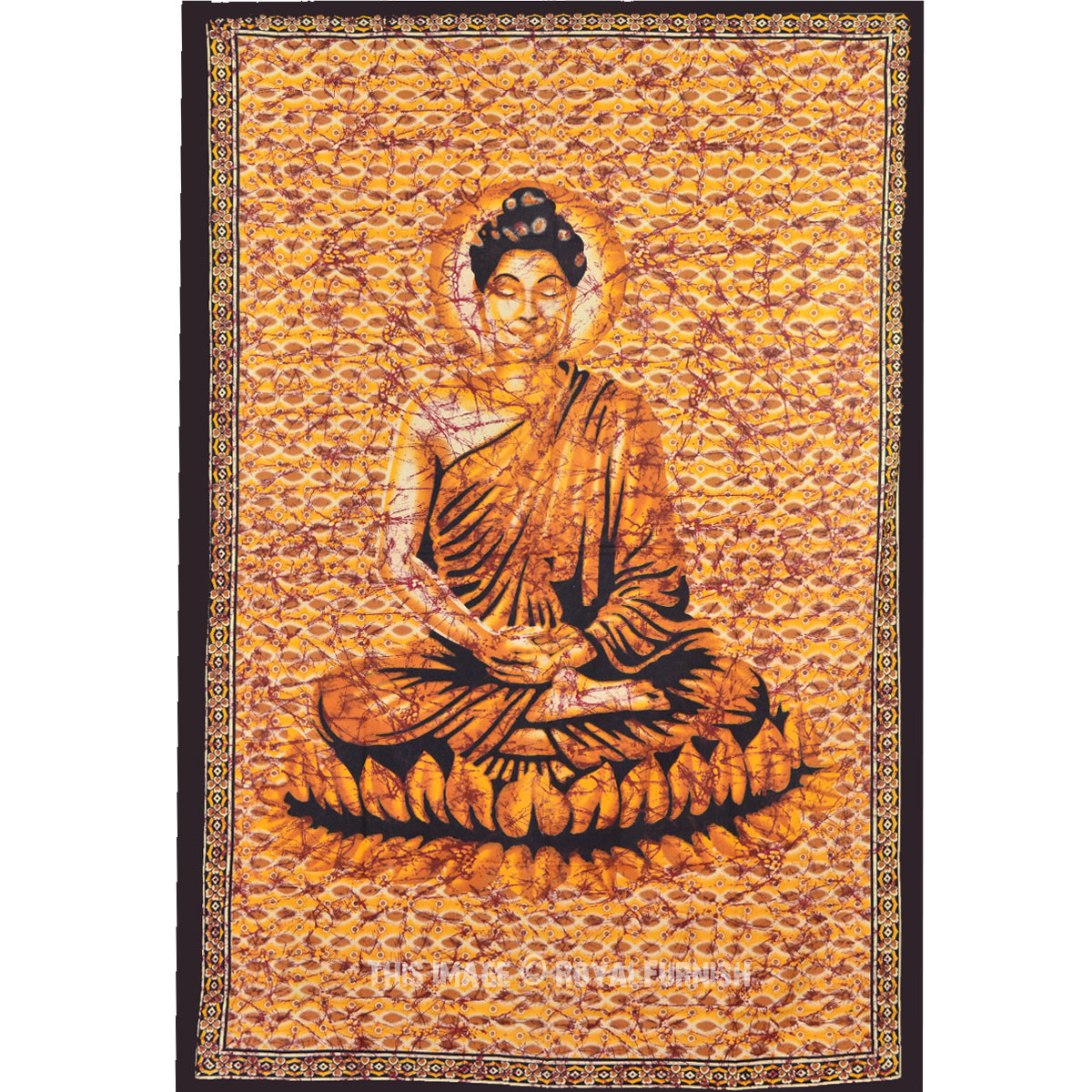 Indian Buddha Canvas Yoga Inspiration Cotton Tapestry Wall ... |Buddha Wall Tapestry