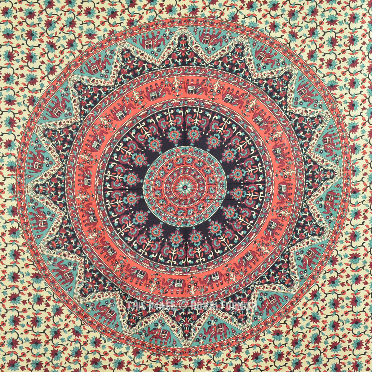 Bohemian Paisley Tapestry, Mandala Wall Hanging Indian ...