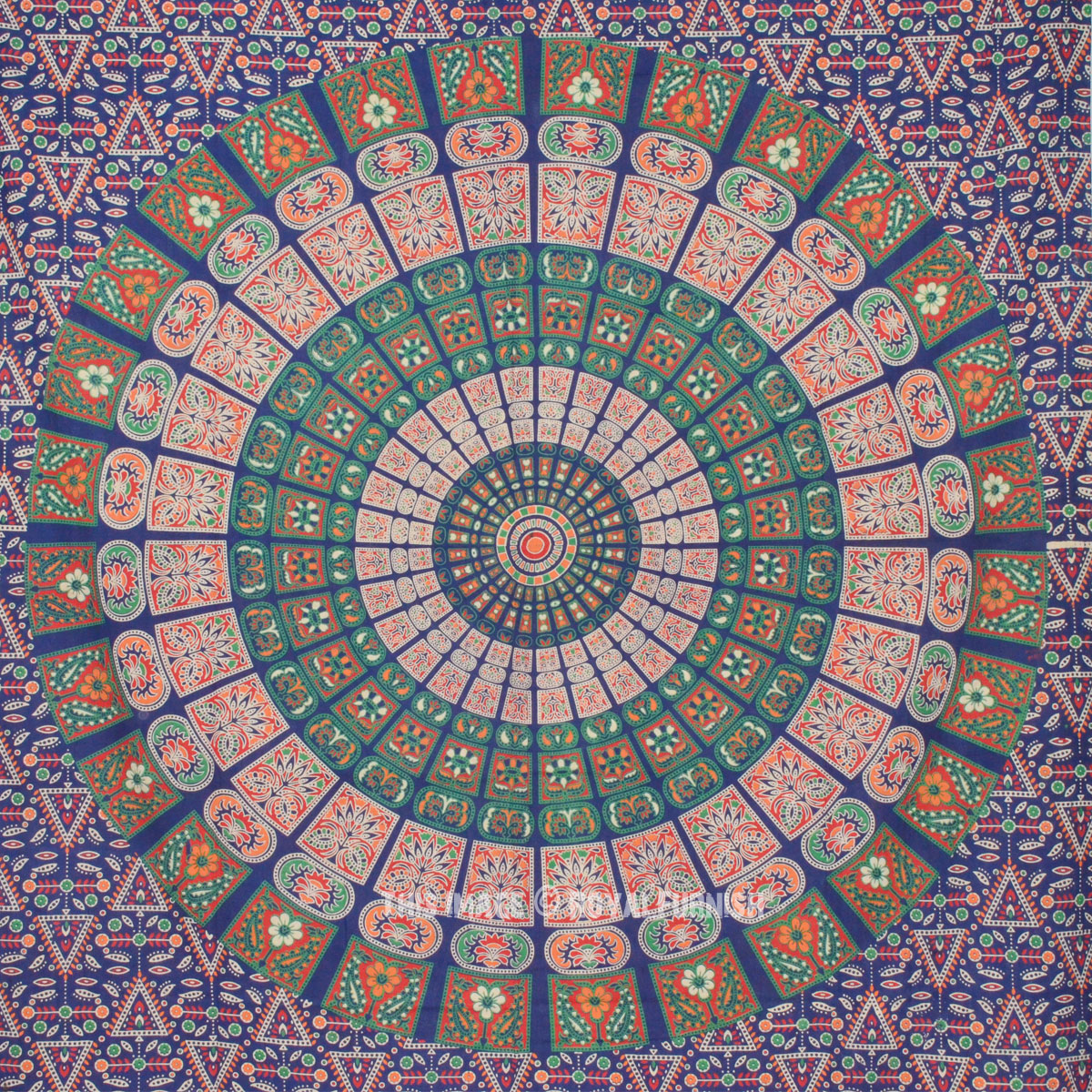 Twin Blue Mandala Boho Wall Tapestry, Indian Hippie ...