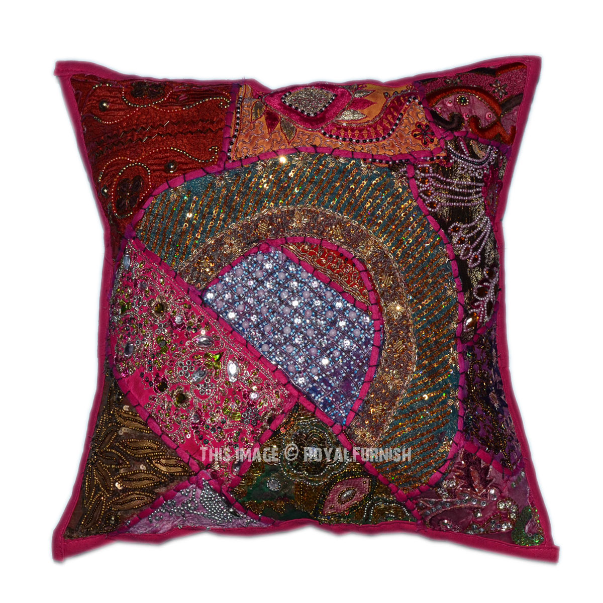Pink Sequin Decorative Pillows : 16