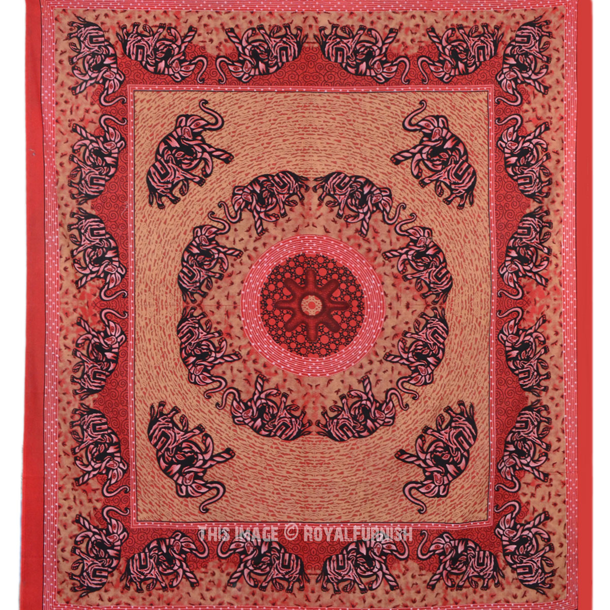 Red Queen Psychedelic Bohemian Hippie Mandala Tapestry Wall Hanging Bedding ...