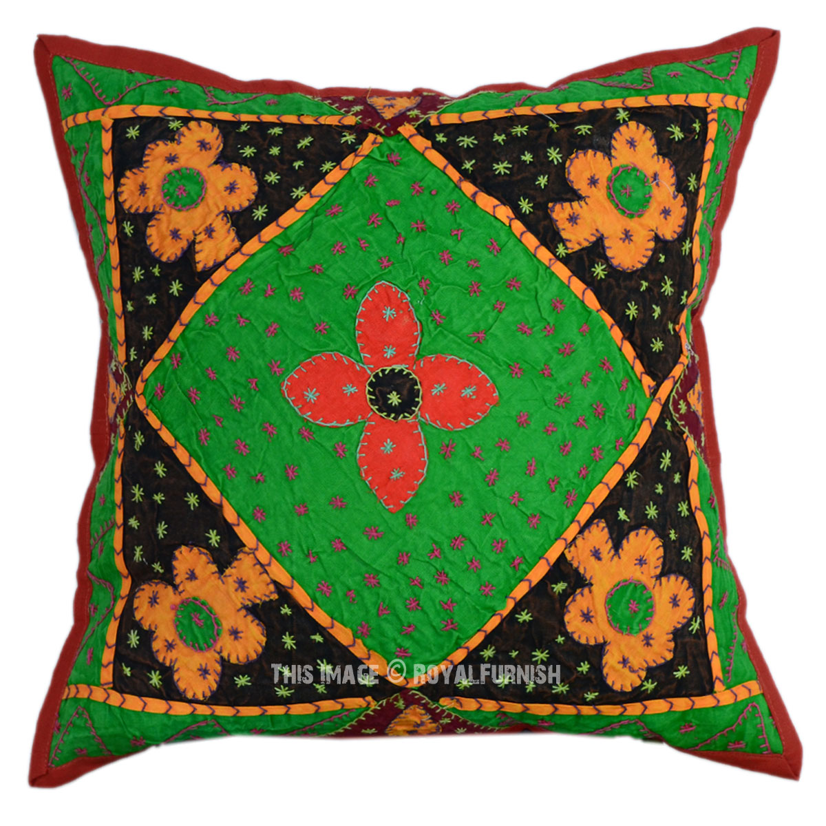 40x40 Quot Outdoor Indoor Bohemian India Floral Cotton Throw