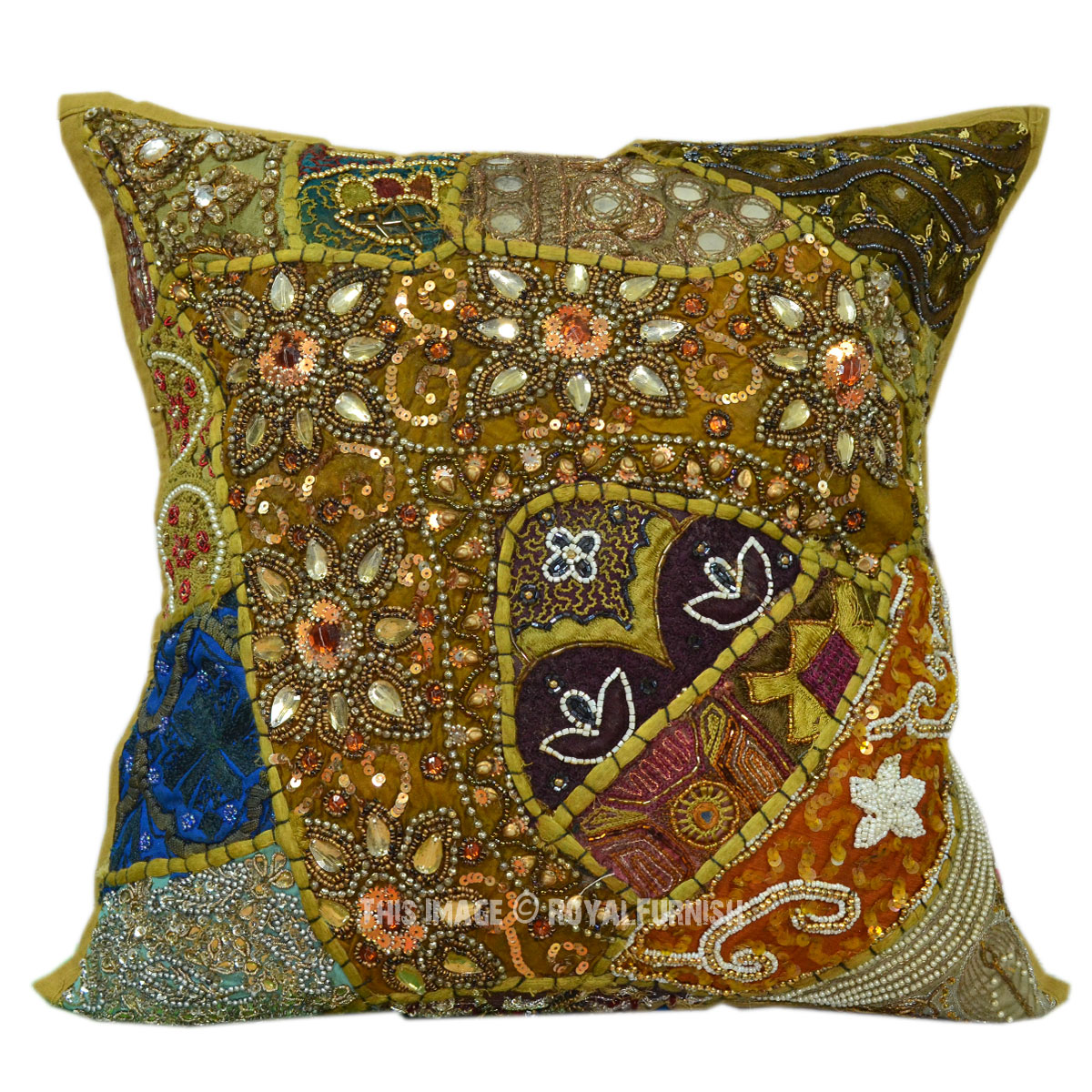Decorative Pillows With Beading : 16X16